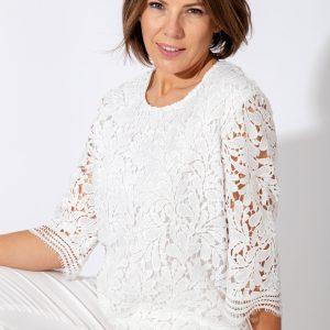 White Lace Crochet Top Jerros Birr