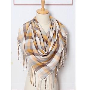 Beige Check scarf Jerros birr