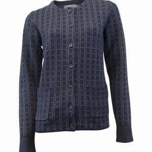 Navy and Blue Lumbar Cardigan Castle Jerros Birr
