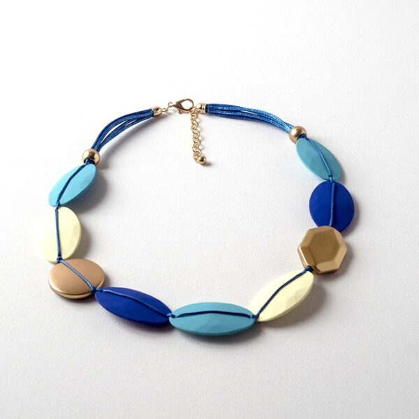 Blue mix necklace jerros birr