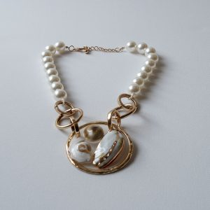 Cream Pearl Mix necklace jerros birr