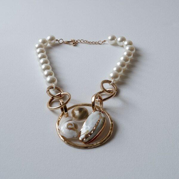 Cream Pearl Mix necklace jerros birr