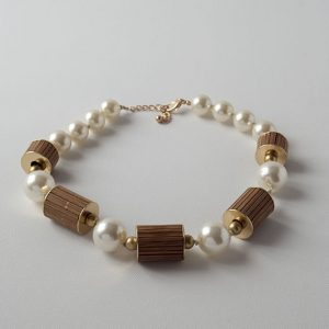 Cream and tan necklace jerros birr