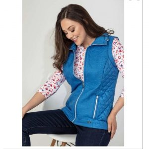 jacquard front gilet blue paco