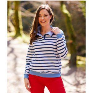 Trim Striped Sweatshirt Paco